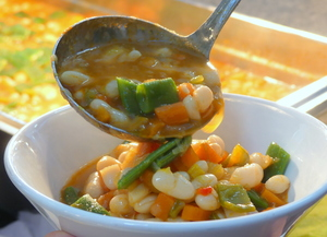 White bean stew with green beans