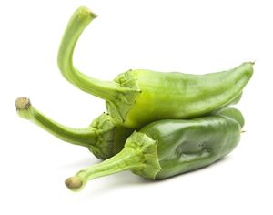 Green basque country peppers