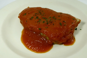 Albacore with tomato sauce