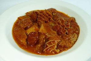 Tripe with Biscayne sauce