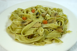 Fetuccini with vegetables