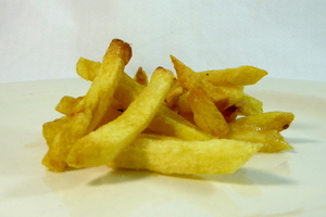 Spanish style cut French fries