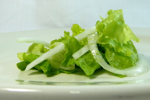 Green onion and lettuce salad