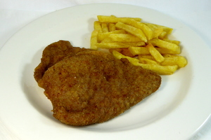 Cordon Bleu escalope with chips