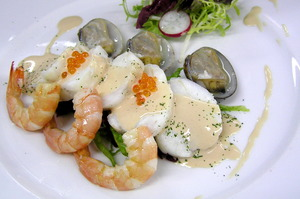 Monkfish and seafood salad