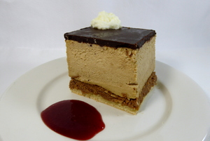 Coffee and caramel mousse