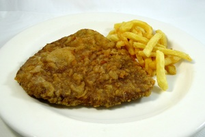 Escalope with chips
