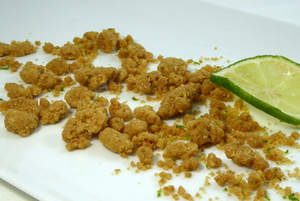 Lime and salt streusel