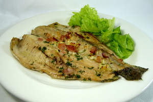 Roasted trout and salad