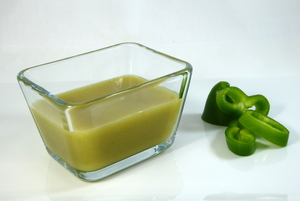 Green pepper cream soup