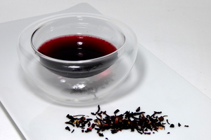 Hibiscus flower infusion