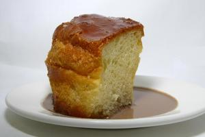 Savarin spongecake soaked in syrup and rum
