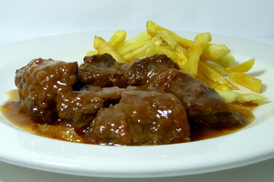 Goulash with French fries
