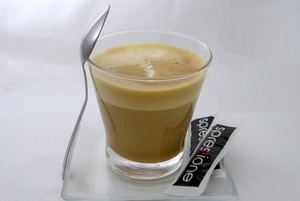 White Coffee in glass