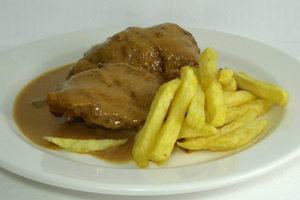 Pork shank stew with potatoes