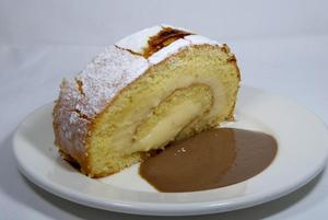 Cream patissiere swiss roll