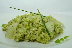 Risotto in pesto