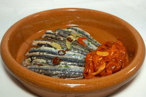 Casserole of anchovies