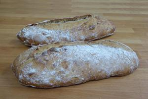 Rustic bread with walnuts