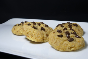 Galletas con virutas de chocolate