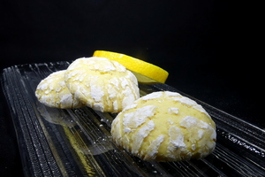 Lemon cracked biscuits