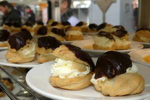Whipped cream profiterols.