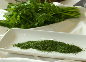 Powdered parsley