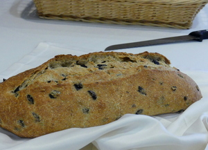 Black olive bread