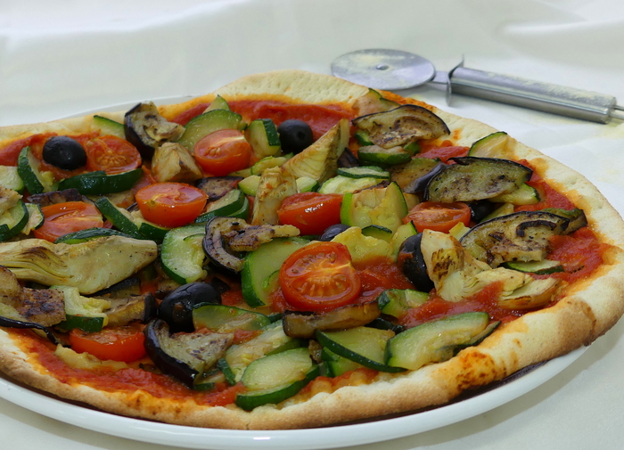 W700 pizza vegetariana