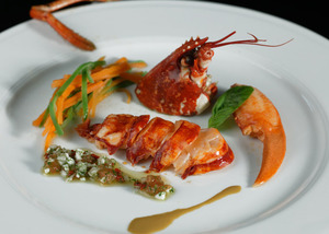 Lobster salad with cold sauces